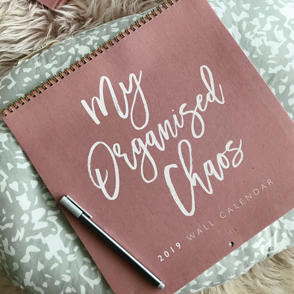 Write to Me Stationery | My Organised Chaos 2019 Wall Calendar - Blush | Shut the Front Door