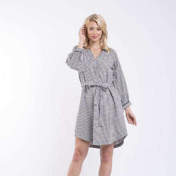 Foxwood | East Village Dress - Check | Shut the Front Door