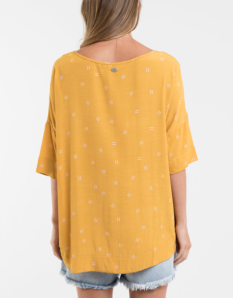 Foxwood | Abigail Top - Mustard | Shut the Front Door