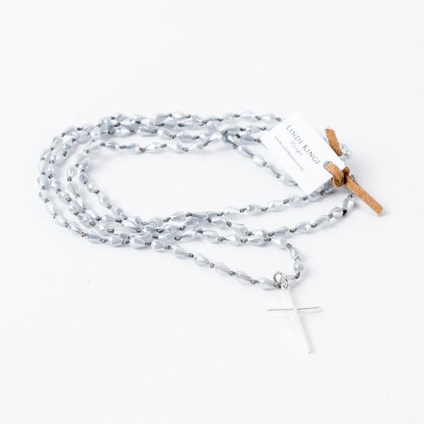 Lindi Kingi | Necklace Fine Cross SILVER | Shut the Front Door