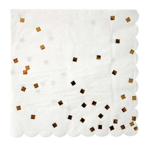 Meri Meri | Napkins Gold Confetti Large | Shut the Front Door