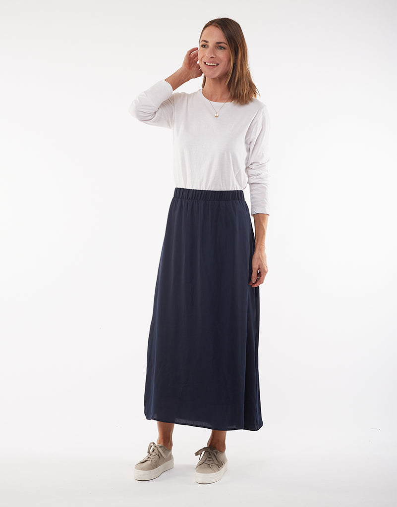Foxwood | Shiloh Skirt - Navy | Shut the Front Door