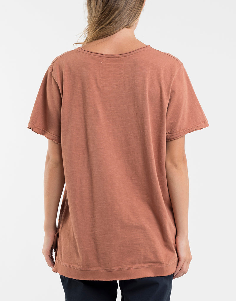 Foxwood | Nitehawk Tee - Bronze | Shut the Front Door