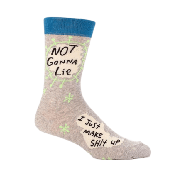Blue Q | Men's Socks Not Gonna Lie | Shut the Front Door
