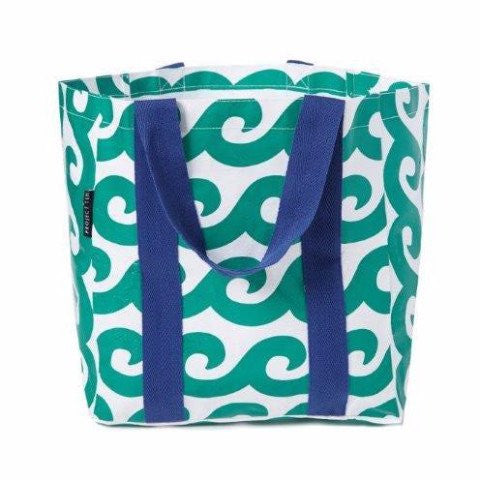 Project Ten | Shopping Tote - Green Wave | Shut the Front Door