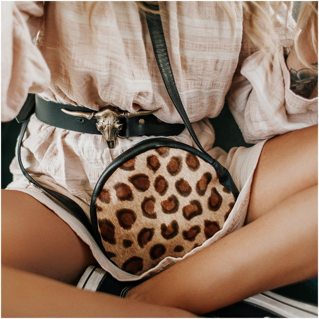 Liberty Emma Collections | Wild at Heart Circle Bag Leopard | Shut the Front Door