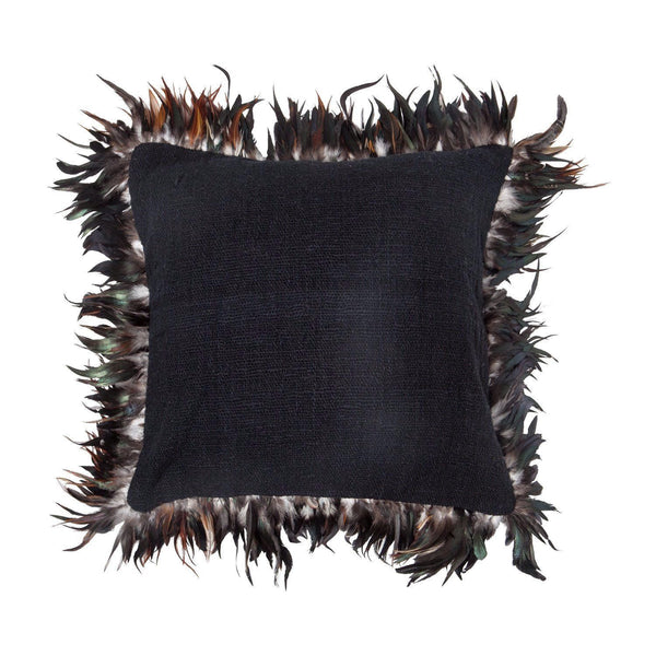 Rose Avenue | Feather Cushion Black | Shut the Front Door