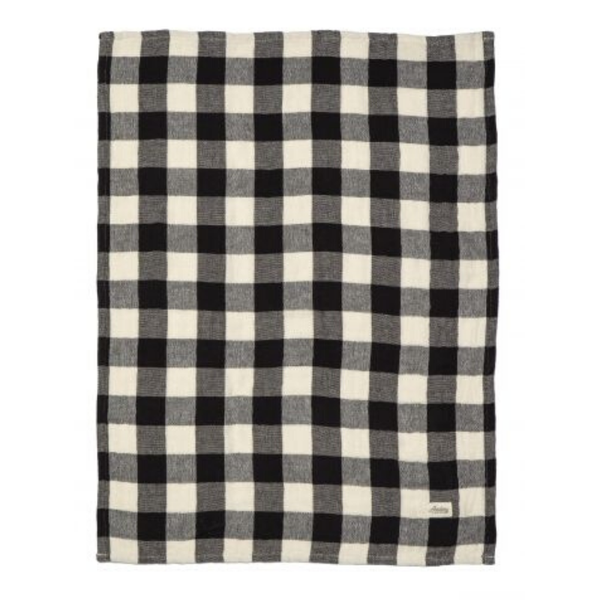 Academy Home | Hardy Gingham Tea Towel - Black Check | Shut the Front Door