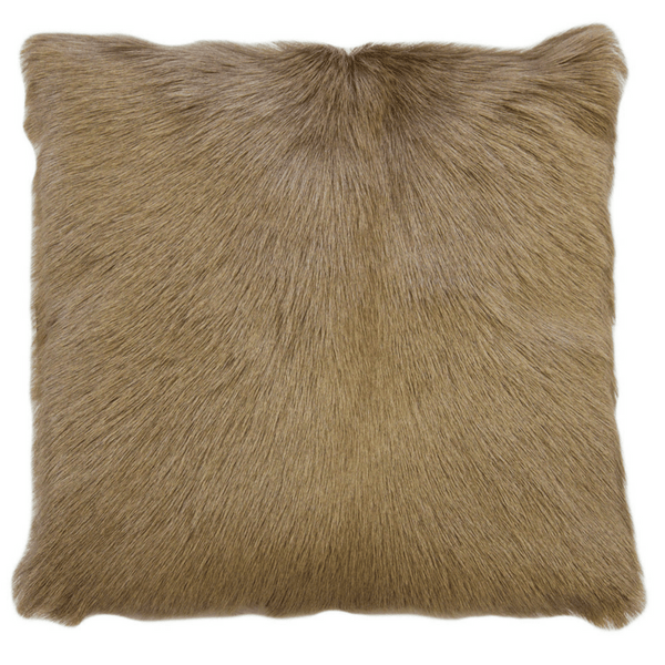 Goat Fur Cushion Beige