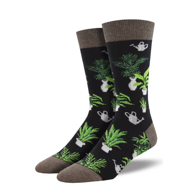 Socksmith | Men's Home Grown Socks - Black | Shut the Front Door