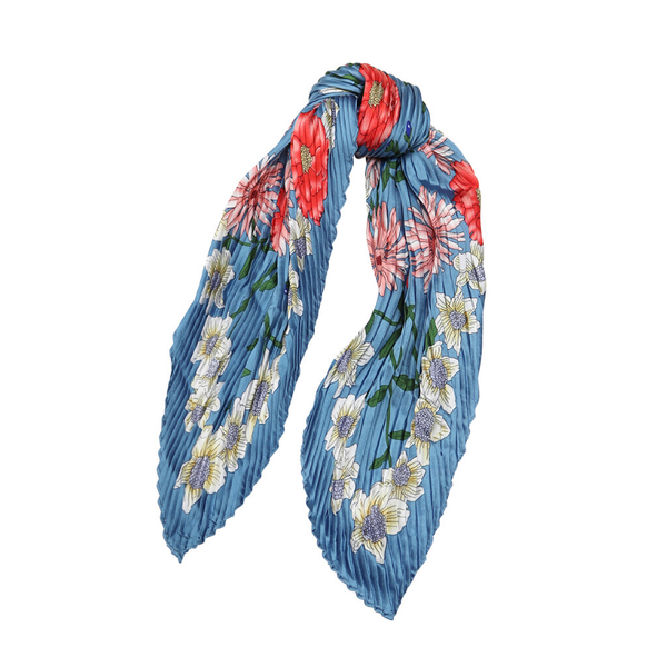 Tiger Tree | Daisy Garland Scarf - Cornflower | Shut the Front Door