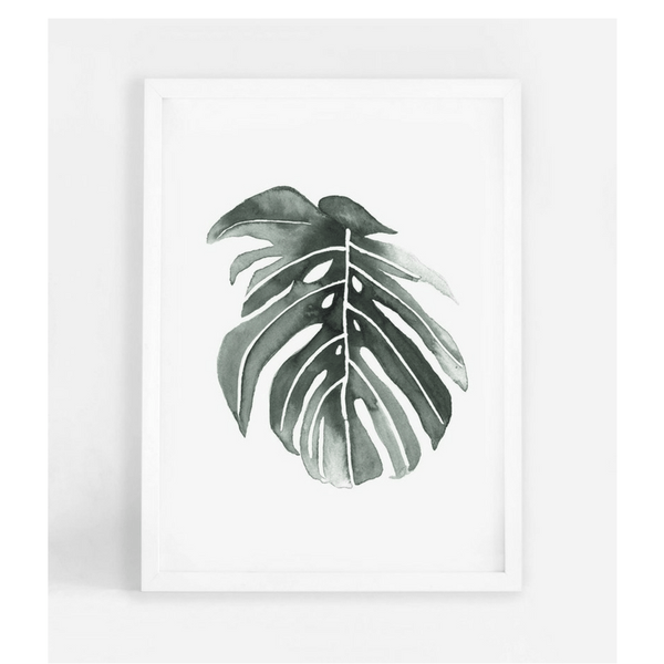 Leden | Leden Philodendron Leaf A3 Print | Shut the Front Door