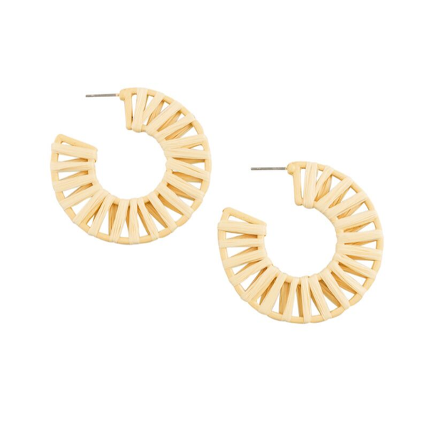 Tiger Tree | Santorini Flat Hoop Earrings - Ecru | Shut the Front Door