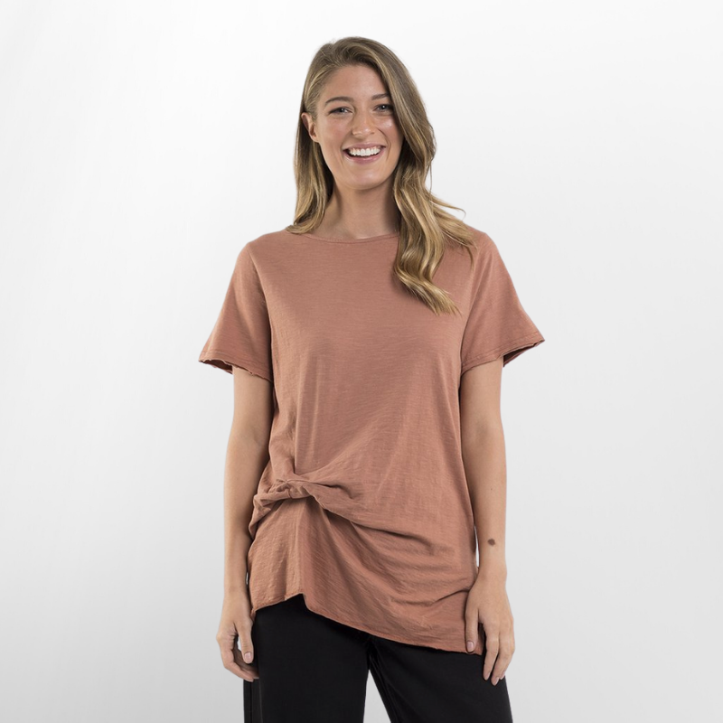Elm Knitwear | Petunia Tee - Bronze | Shut the Front Door