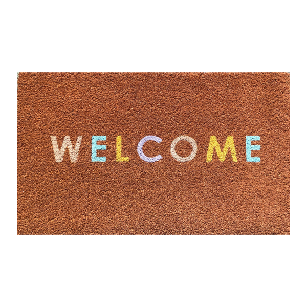 General Eclectic | Welcome Colours Doormat | Shut the Front Door