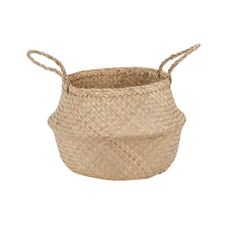 General Eclectic | Seagrass Belly Basket Sml NATURAL | Shut the Front Door
