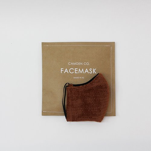 Camden Co | Face Mask - Clay Corduroy | Shut the Front Door