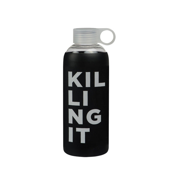 General Eclectic | Glass Drink Bottle - Killing It - 750ml | Shut the Front Door