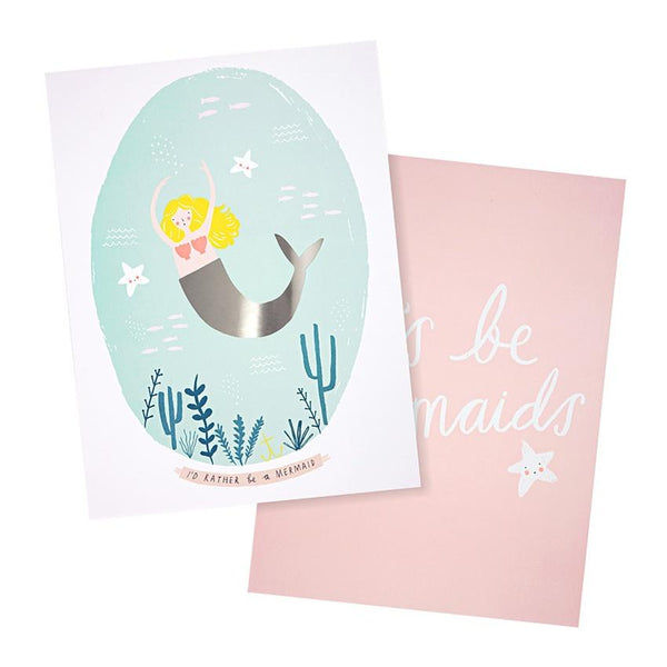 Meri Meri | Art Prints - Mermaids Set 2 | Shut the Front Door