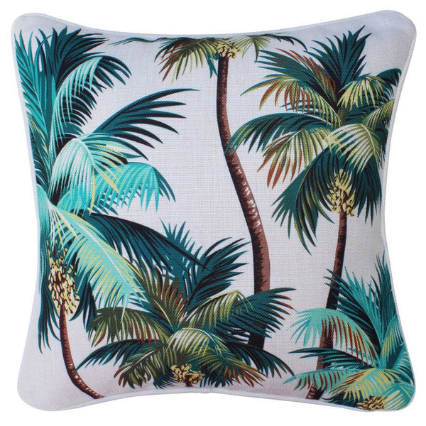 Escape to Paradise | Outdoor Cushion Palm Trees Natural | Shut the Front Door
