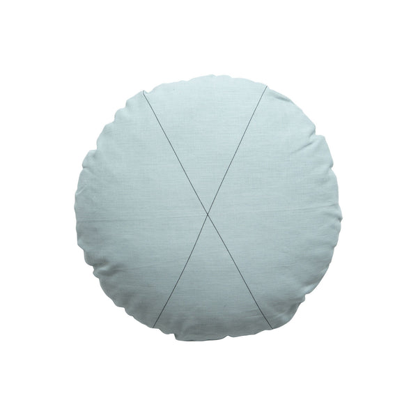 Milk & Sugar | Cushion Cross Round SEAFOAM | Shut the Front Door