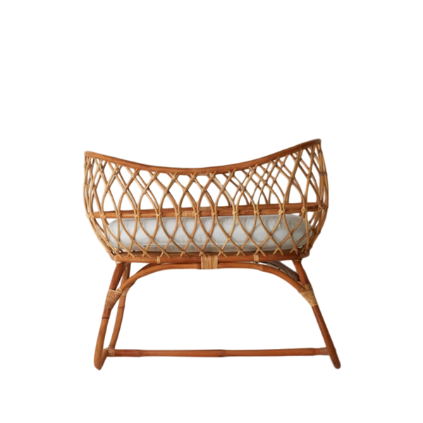 General Eclectic | Rattan Baby Bassinet | Shut the Front Door