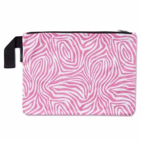 Project Ten | Zip Pouch Pink Zebra | Shut the Front Door