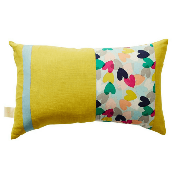 SAGE & CLARE | Alicia Patchwork Hearts Cushion | Shut the Front Door