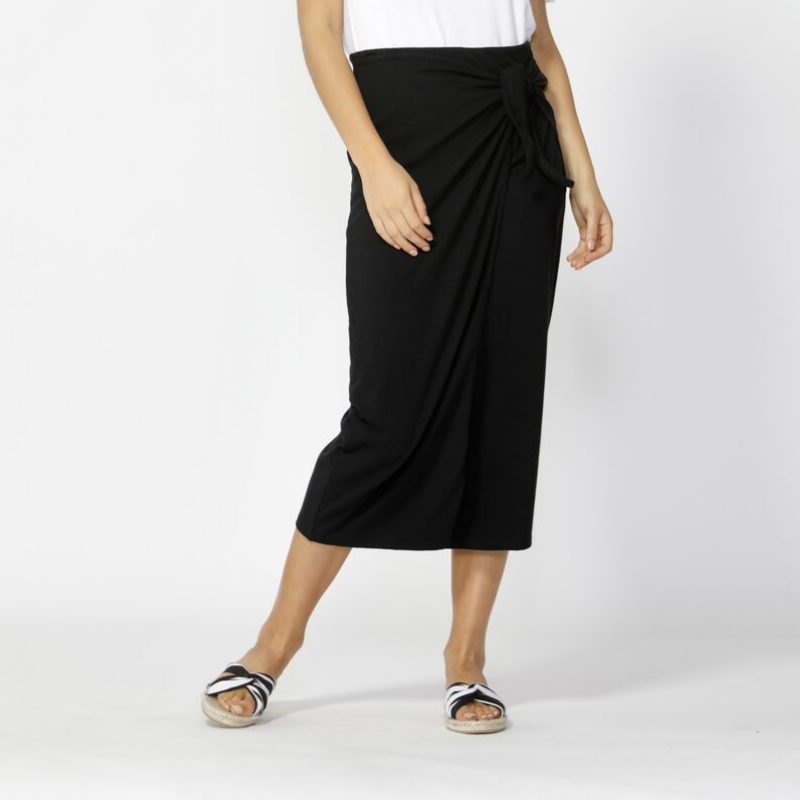 Betty Basics | Lana Midi Skirt - Black | Shut the Front Door