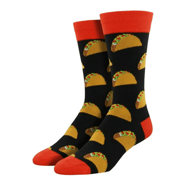 Socksmith | Socks Mens Tacos Black | Shut the Front Door