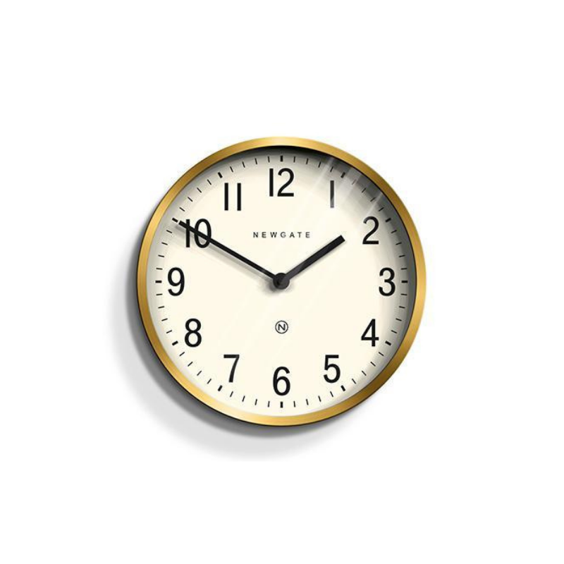 Newgate | Master Edwards Wall Clock Brass | Shut the Front Door