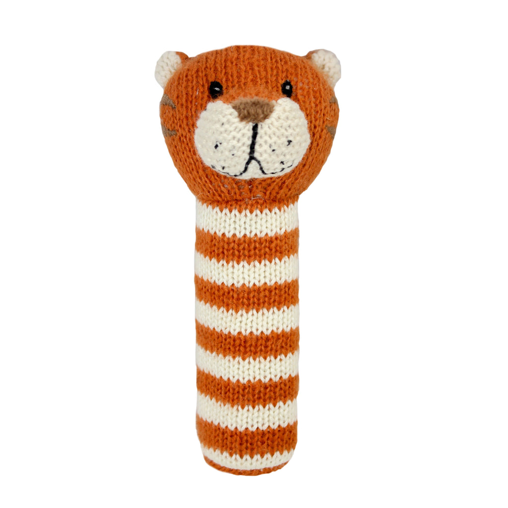 Lily and George | Niko Stripey Tiger Stick Rattle | Shut the Front Door