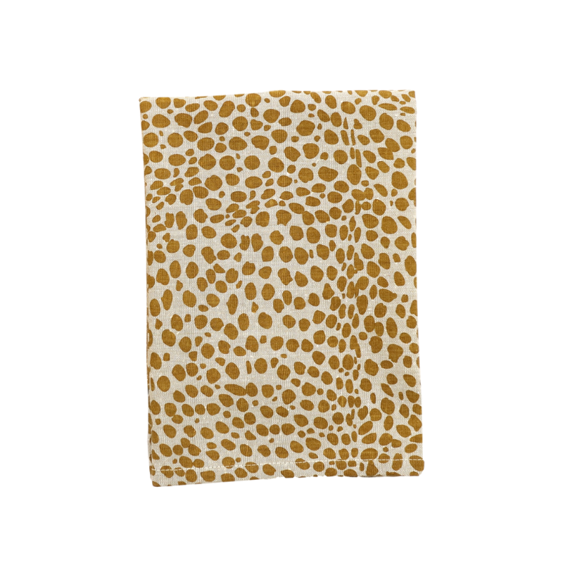 Raine & Humble | Animal Print Tea Towel - Spot Mustard | Shut the Front Door