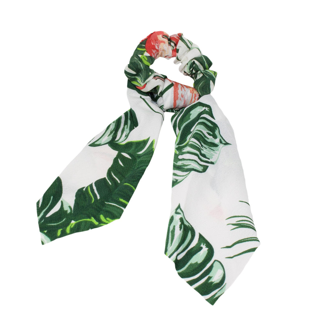 Lindi Kingi | Flamingo Scrunchie Scarf - White | Shut the Front Door