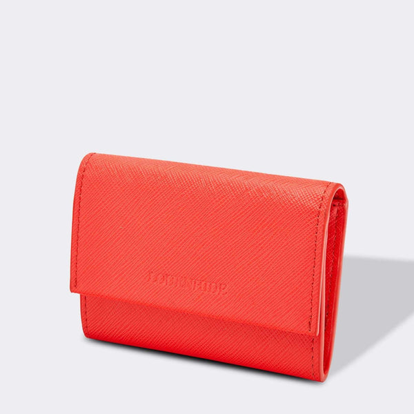 Louenhide | Bossy Hatch Cardholder Coral | Shut the Front Door