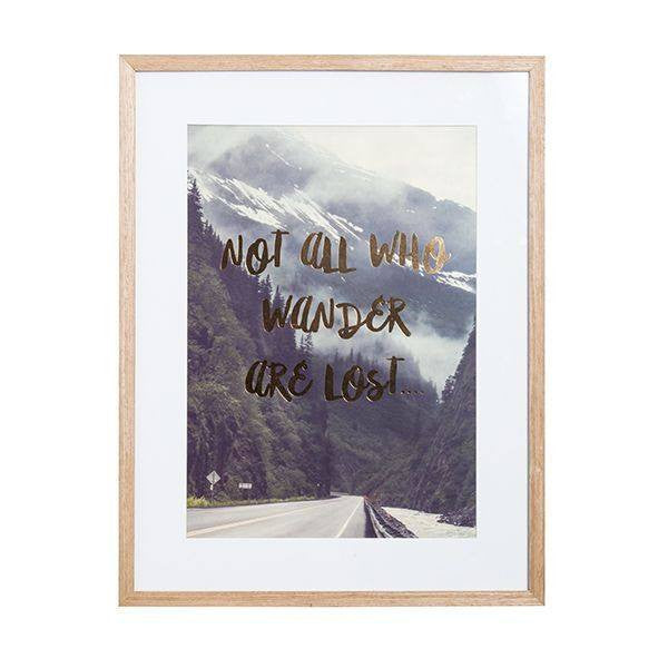 General Eclectic | Framed Print Wander A3 | Shut the Front Door