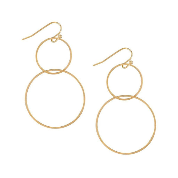 Tiger Tree | Earrings Gold Double Ring | Shut the Front Door