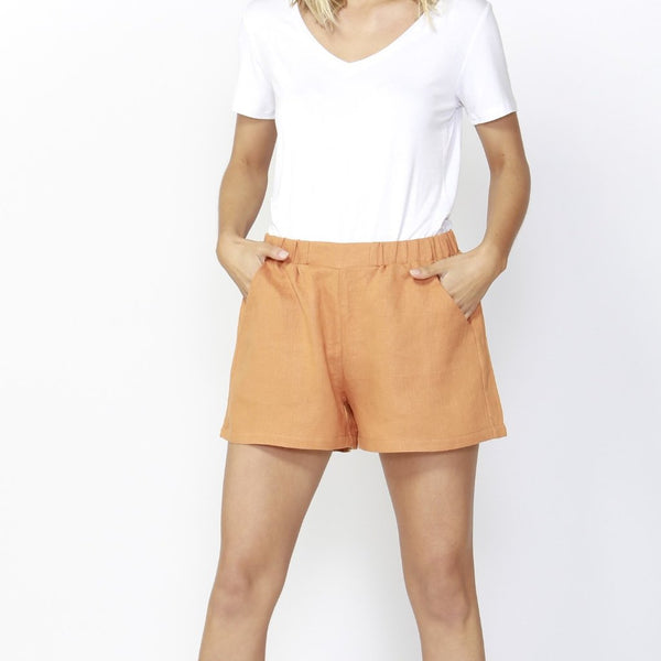 Betty Basics | Jax Linen Short Rust | Shut the Front Door