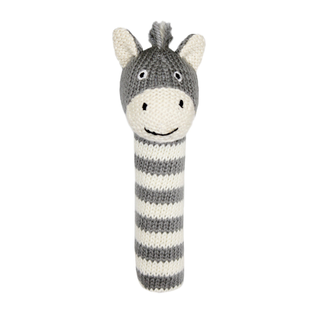 Lily and George | Bowie Stripey Zebra Stick Rattle | Shut the Front Door