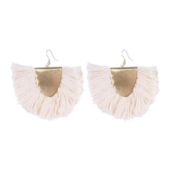 eb & ive | Malapo Fringe Earring Clay | Shut the Front Door