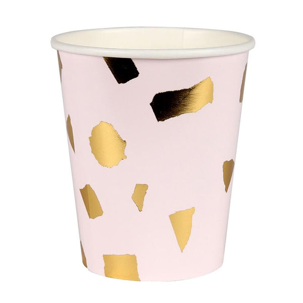 Meri Meri | Terrazzo Blush Party Cups pk8 | Shut the Front Door