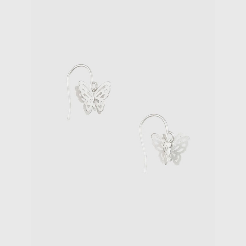 Tiger Tree | Silver Butterfly Earrings | Shut the Front Door
