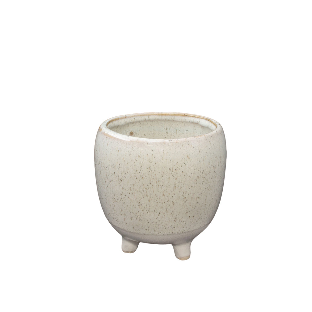 General Eclectic | Nariko Footed Planter - White Smoke | Shut the Front Door