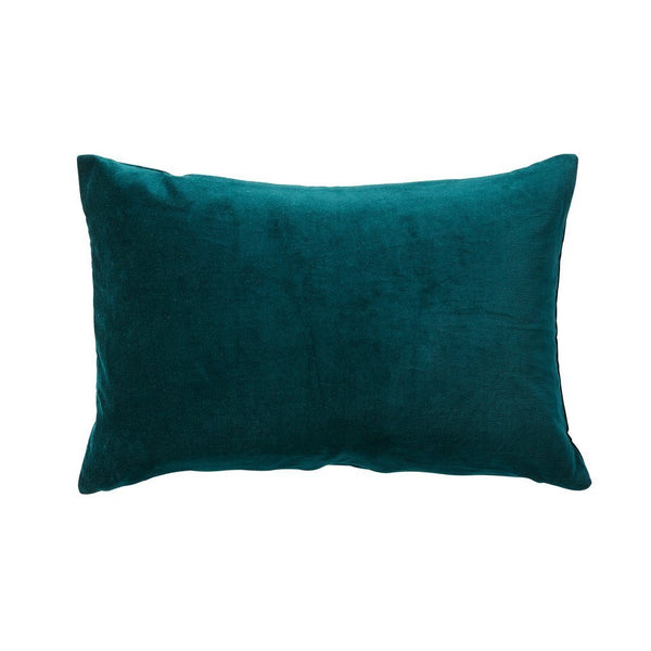 Milk & Sugar | Velvet Rectangle Cushion EMERALD | Shut the Front Door