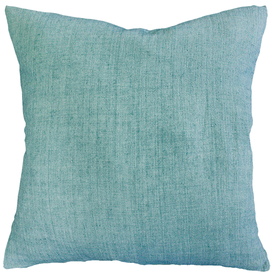 Mulberi | Indira Linen Cushion TURQUOISE | Shut the Front Door