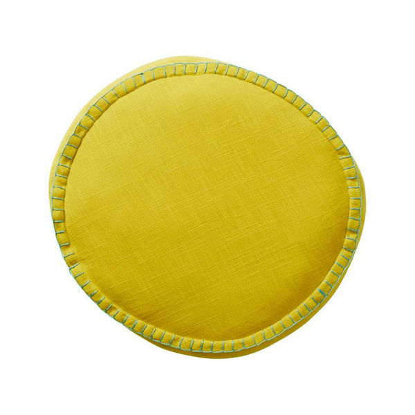 SAGE & CLARE | Rylie Round Cushion CHARTREUSE | Shut the Front Door