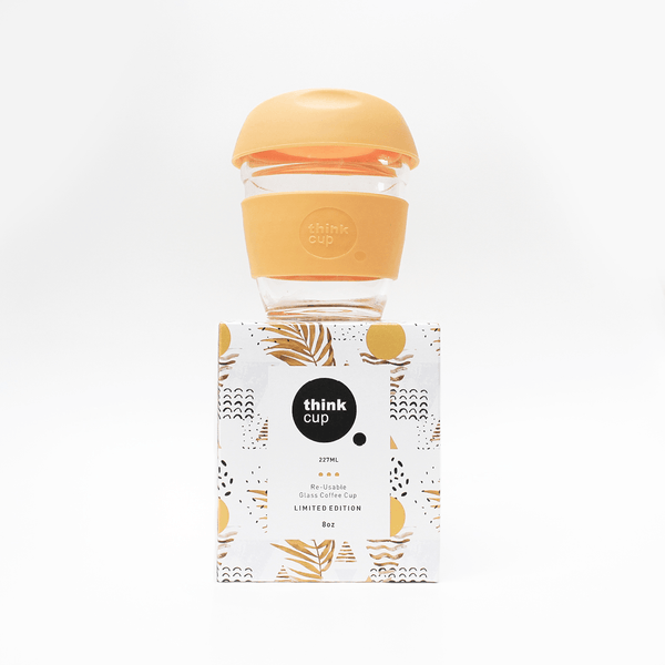 Think Cup | Think Cup Reusable Glass Coffee Cup - Limited Edition - 8oz Sunset | Shut the Front Door