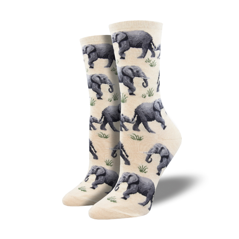 Socksmith | Women's Raising A Heard - Ivory Heather | Shut the Front Door