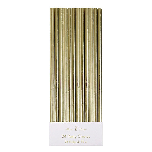 Meri Meri | Foiled Straws Gold Foil | Shut the Front Door