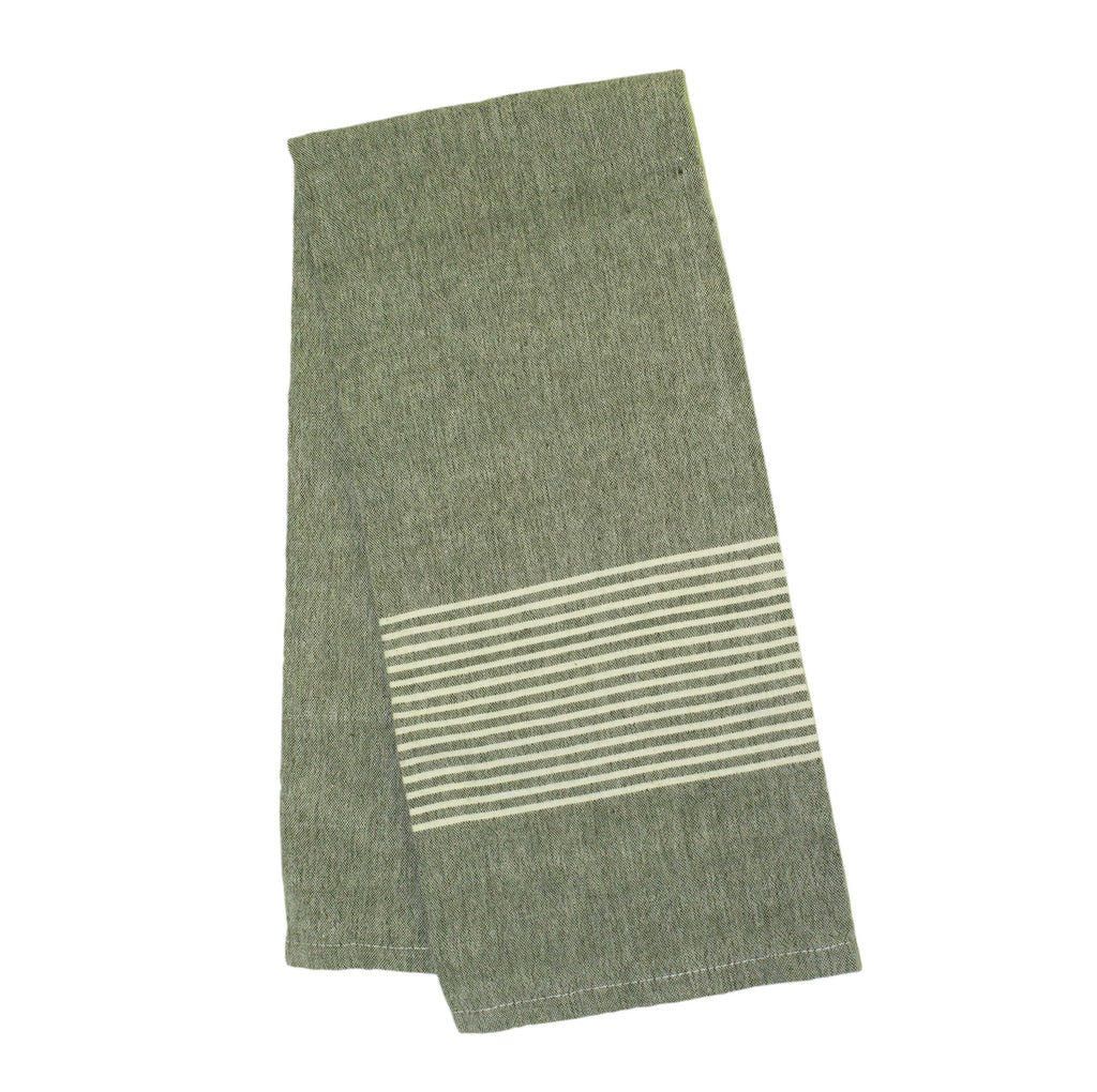 Raine & Humble | Olive Grove Tea Towel - Olive Stripe | Shut the Front Door
